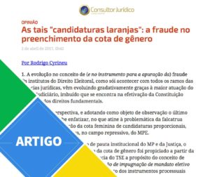 "As tais ""candidaturas laranjas&;:"