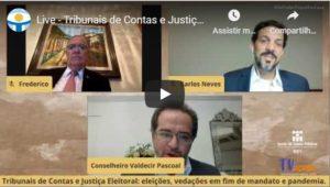 Em live, Tribunal de Contas de Pernambuco discutiu eleições, vedações em fim de mandato e pandemia; Confira o vídeo